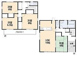 LDK16帖・全居室6以上で広々。2ヶ所から出入りできるバルコニーもポイントです。