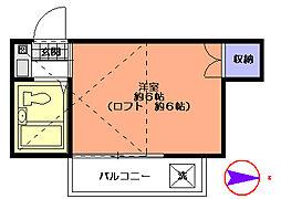パールハイツ田無[1階]の間取り