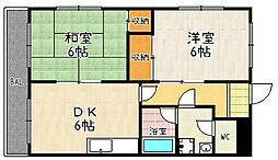 M'Sマンション[1-D号室]の間取り