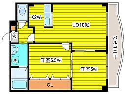 北海道札幌市東区北二十四条東8丁目の賃貸マンションの間取り