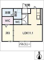 パークハウス栄[1階]の間取り