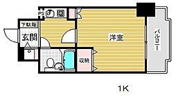 ライオンズマンション三宮東第2[8階]の間取り