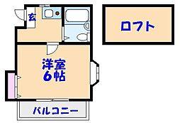 ローズアパートR28番館[201号室]の間取り