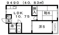 サニーガーデンヒル[5B号室号室]の間取り