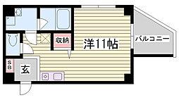 新長田BENEFIC[4階]の間取り