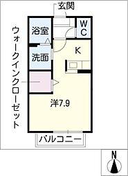 アムールK[2階]の間取り