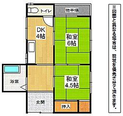 [一戸建] 福岡県北九州市八幡東区茶屋町 の賃貸【/】の間取り