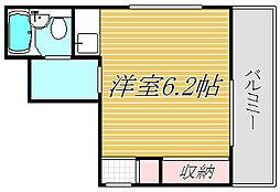 パラストハイム落合[3階]の間取り