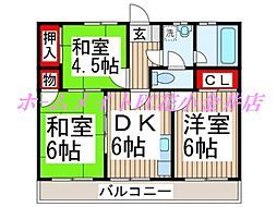 メゾン花小金井[1階]の間取り
