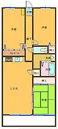 グランベール蒲田[4階]の間取り