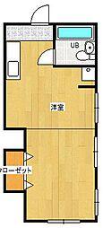 コスモ佐貫[105号室]の間取り