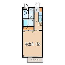 MKパル[3階]の間取り