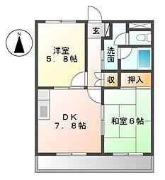 セレストミヤウラ[2階]の間取り
