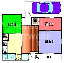 藤田アパート[1号室号室]の間取り