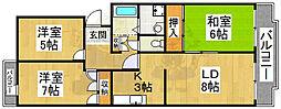 サンモール田中 2階3LDKの間取り