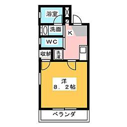 Villa Cocoon Shizuoka[4階]の間取り