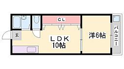 N・Cスクエア長田 1階1LDKの間取り