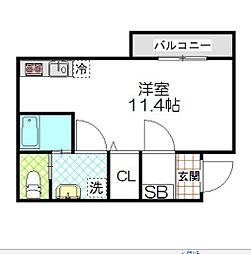 東京都世田谷区池尻2丁目の賃貸マンションの間取り