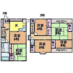 [一戸建] 愛媛県松山市中央1丁目 の賃貸【/】の間取り