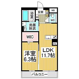 (仮)広丘高出ブレインマンション[6階]の間取り