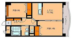 ホープ花屋敷[6階]の間取り