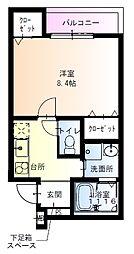 フジパレス吹田寿町5番館 3階1Kの間取り