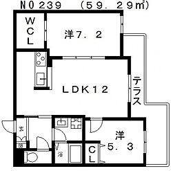 Wisteria天王寺 (ウィステリア天王寺)[2階]の間取り