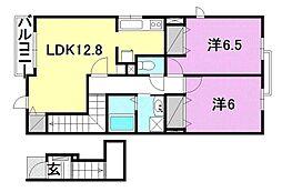 マンダリン フルール1・2[A201 号室号室]の間取り