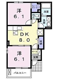 ブライト・ガーデンB[1階]の間取り