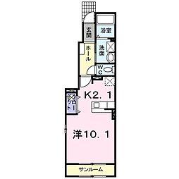 フィオ−レ 野村 II[0104号室]の間取り