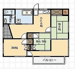 [一戸建] 宮崎県宮崎市大工1丁目 の賃貸【/】の間取り