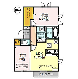 仮称)D-room畝田中[1階]の間取り