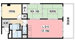 エクセル甲子園口[102号室]の間取り