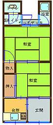 山川荘[2号室]の間取り