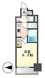 プレサンスSAKAE白川公園 II[8階]の間取り