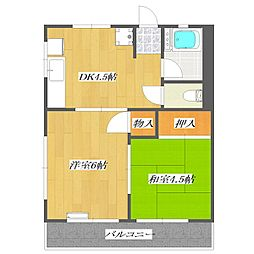 Second SHIMIZU Heights  〜第二清水ハ[2階]の間取り
