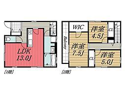 [一戸建] 千葉県千葉市花見川区検見川町5丁目 の賃貸【/】の間取り