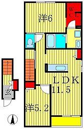 ハイムコンフォートD[2階]の間取り