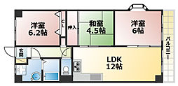 アバンセ六甲パート1[2階]の間取り