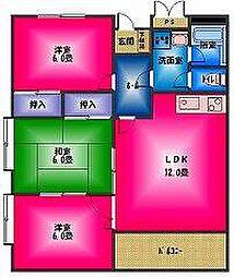 ロイヤルパレス弐番館[2階]の間取り