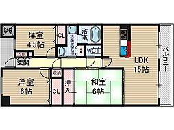 KDXレジデンス茨木1[3階]の間取り