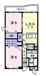 フォレストヴィラ[1階]の間取り