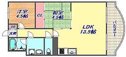 芦屋サウスマンション[3階]の間取り