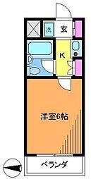 ダイホープラザ調布[4階]の間取り