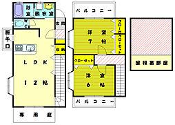 [テラスハウス] 福岡県福岡市東区奈多3丁目 の賃貸【福岡県 / 福岡市東区】の間取り