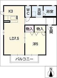 シルクロードB棟[2階]の間取り