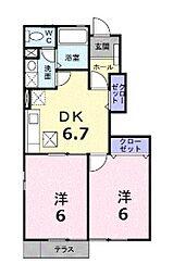 プロムナードI[2階]の間取り