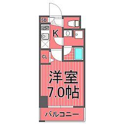 ガーラステーション横濱関内[3階]の間取り