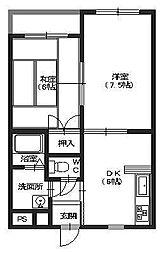 東京都江戸川区鹿骨3丁目の賃貸マンションの間取り