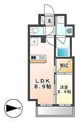 ハーモニーレジデンス名古屋EAST[8階]の間取り